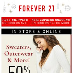[FOREVER 21] ❄ SALE |  50% Sweaters, Outerwear, and More! ❄
