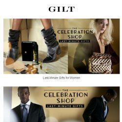 [Gilt] Get Expedited Shipping. And those last-minute gifts.