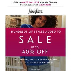 [Neiman Marcus] 40% off: Even more styles just added to sale!