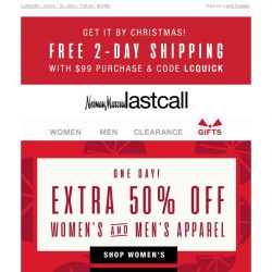 [Last Call] 1 day: HALF OFF the labels you love