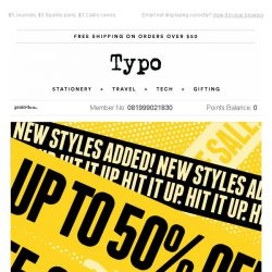 [typo] New styles added to SALE!