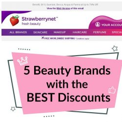 [StrawberryNet] 5 Beauty Brands with the BEST Discounts