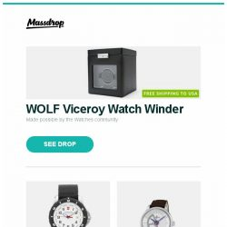 [Massdrop] WOLF Viceroy Watch Winder, Victorinox Maverick Sport Watch, Perrelet First Class Double-Rotor Automatic Watch and more...