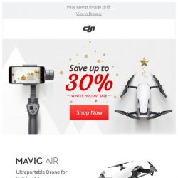 [DJI edm] Save up to 30% at the DJI Winter Holiday Sale!