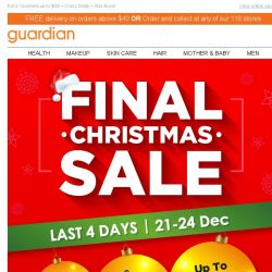 [Guardian] 🎅 FINAL Christmas Sale! Up to 70% off!