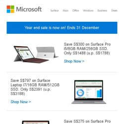 [Microsoft Store] Year end sale: save up to 25% on select Surface and Xbox