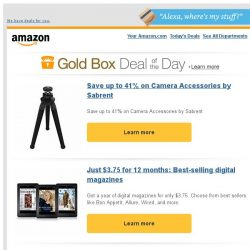 [Amazon] Save up to 41% on Camera Accessories by Sabrent