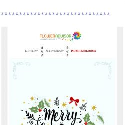 [Floweradvisor] We Wish You a Merry Christmas 🎄🎉