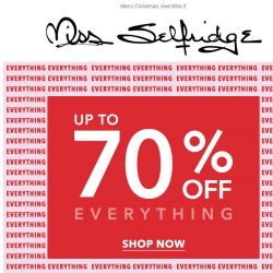 [Miss Selfridge] Up to 70% off EVERYTHING