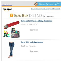 [Amazon] Save up to 80% on Holiday Clearance.