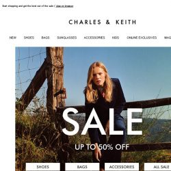 [Charles & Keith] End Of Season Sale – Up To 50% Off