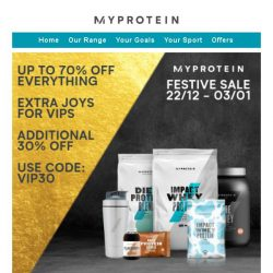 [MyProtein] ⚠️ Last Chance - Boxing Day Exclusive Deals