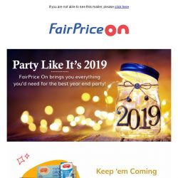 [Fairprice] Get Your Year End Party Needs Delivered!