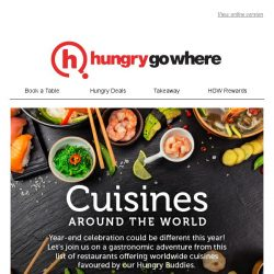 [HungryGoWhere] Feast around the world this New Year - Modern Japanese fusion, authentic Italian fare, & more