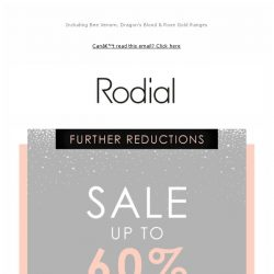 [RODIAL] Further Reductions | SALE - Up To 60% Off
