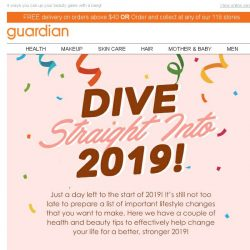 [Guardian] 🎉 Ring in 2019 with a healthier, beautiful you!
