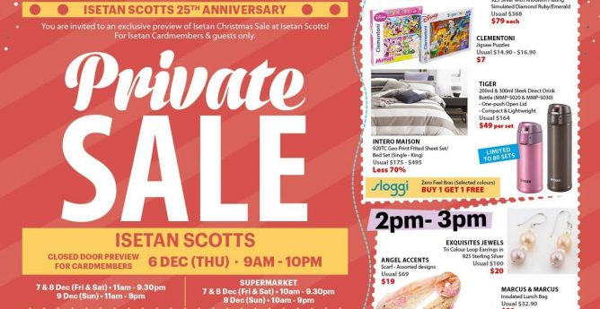Isetan  Private Sale with 20% Beauty Bonus Coupons, Coupon Specials, Up to  50% OFF Selected Coach Items   More! 6 - 9 Dec 2018 - 👑BQ.sg BargainQueen 2c63e2820cf