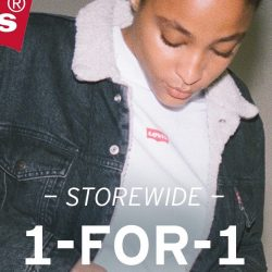 Levi's: Buy 1 Get 1 FREE Storewide + FREELevi's® Gift with Minimum Spend at Marina Square