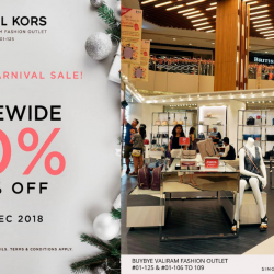 Michael Kors By BuyBye Valiram Fashion Outlet: Christmas Carnival Sale with 50% OFF Storewide + Additional 10% OFF!