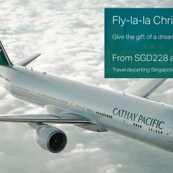 Cathay Pacific: Fly-la-la Christmas Sale to Hong Kong, Bangkok, Taipei, Europe & More from SGD228 All-In!