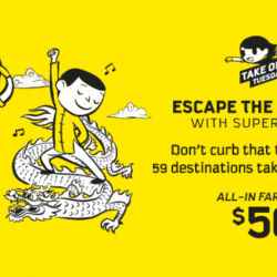 Scoot: Take Off Tuesday Sale with All-In Fares from SGD50 to 59 Destinations!