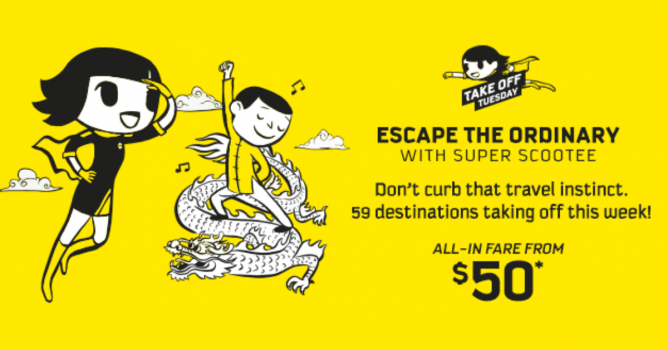 Stocking up on presents for Christmas  Give yourself the gift of travel  with this week s Take Off Tuesday sale at Scoot! Destinations include  Athens, Sydney ... 071e6875ead