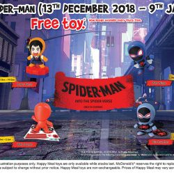 McDonald's: FREE Spider-Man Toy with Every Happy Meal Purchased