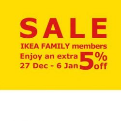 IKEA Singapore: $1 Mee Rebus Breakfast Special & Additional 5% OFF on All Sale Items for IKEA FAMILY Members