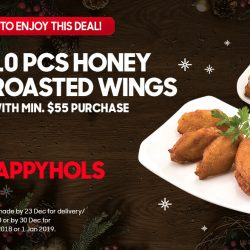 Pizza Hut: Enjoy 10 Pieces of Honey Roasted Wings for just $1 & 20% OFF Total Takeaway Bill!