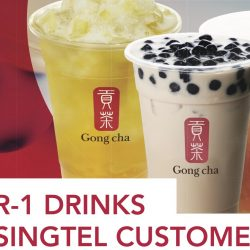 Gong Cha: 1-for-1 Drinks for Singtel Customers!
