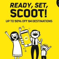 Scoot: Mobile App Exclusive Promotion with Up to 50% OFF 64 Destinations from just SGD52!