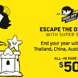 Scoot: Take Off Tuesday with All-In Fares to 60 Destinations from SGD50!