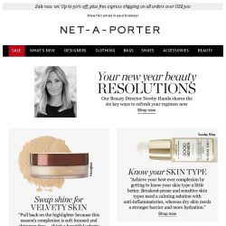 [NET-A-PORTER] 6 beauty resolutions to make now