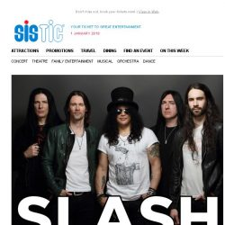 [SISTIC] 🌹 Legendary guitarist SLASH live in concert on 8 Jan 🕶🎸 | New Year Flash Sale  - BOOK NOW 🌹