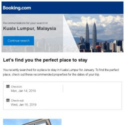 [Booking.com] Deals in Kuala Lumpur from S$ 20