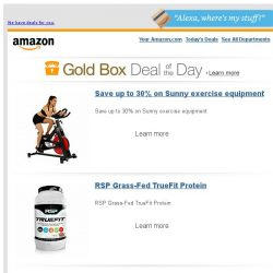 [Amazon] Save up to 30% on Sunny exercise equipment