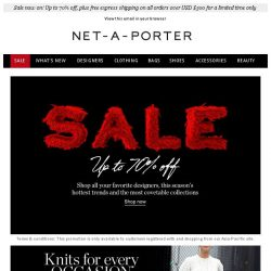 [NET-A-PORTER] Sale: now up to 70% off. Shop further reductions on Chloé, Fendi and more
