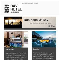 [Bay Hotel] Start your year right with Bay