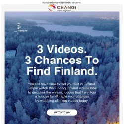 [Changi Airport] Have you found Finland yet?