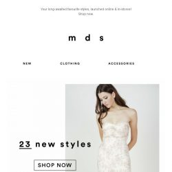 [MDS] Festivities Ready | NEW online & in-stores