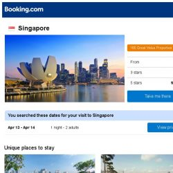 [Booking.com] Deals in Singapore from S$ 25