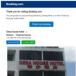 [Booking.com] Desa house hotel – are you still interested in staying?