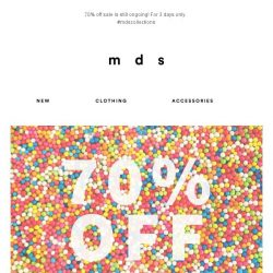 [MDS] 70% Off! | 3 days only