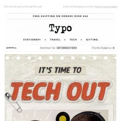 [typo] Get your tech on! 25% off ends tonight..