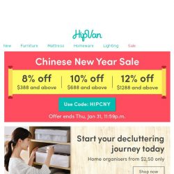 [HipVan] Declutter your home this New Year!