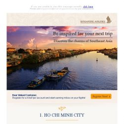 [Singapore Airlines] Explore Southeast Asia in 2019 from SGD158