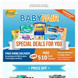 [Giant] BOOM 🎉 Giant Baby Fair is Back! 👏 Brighter smile for the little one