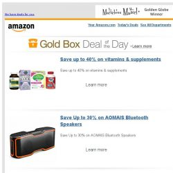 [Amazon] Save up to 40% on vitamins & supplements