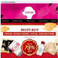 [SaSa ] 【Hong Kong】Local Drugstore Essentials Up to 78% Off Sale
