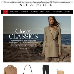 [NET-A-PORTER] Your new closet classics